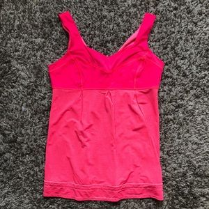 Lululemon hot pink tank top size 12